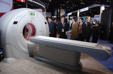 toshibas rsna highlights include   row ct scanner