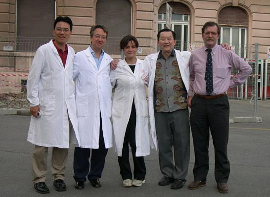 Visitors from Asia came to study muskuloskeletal ultrasound in Genoa 2006
