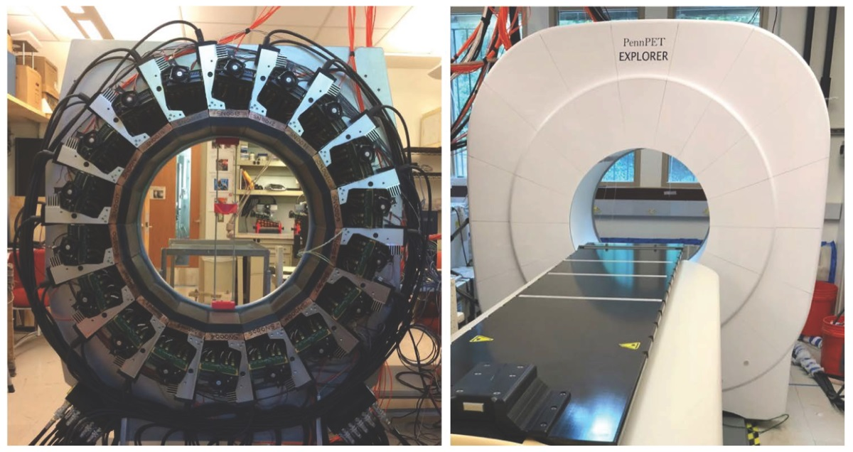 The PennPET Exploer scanner shown under development and in pototype form