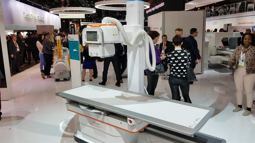 The Multix Impact floor-mounted digital radiography room