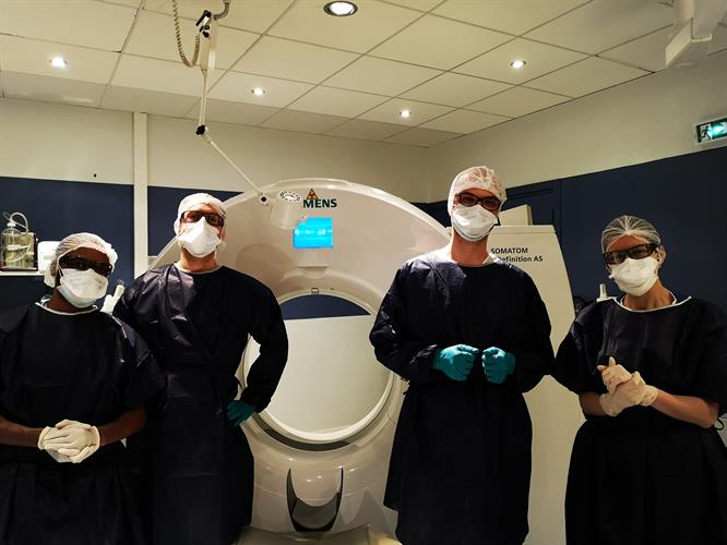A group of medical imaging staff members