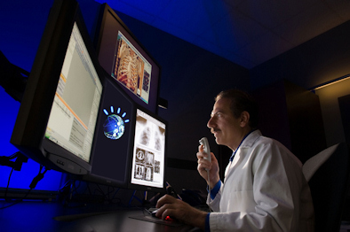 Dr. Eliot Siegel reviews medical images using Watson