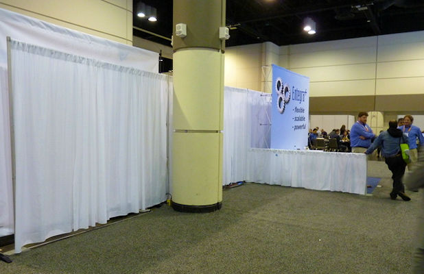 View of an empty vendor space at the conference