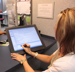 Interactive Pen Display for Patient Registration