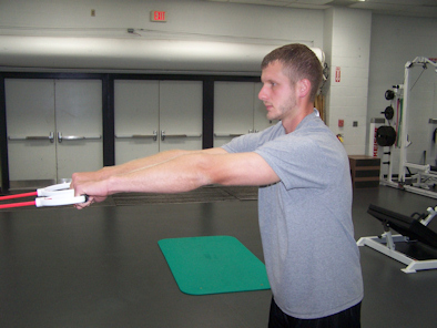 Band Shoulder Retraction stretch