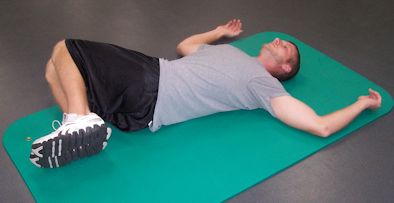 Hip rotation stretch