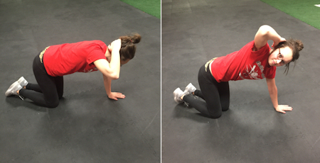 Kneeling thoracic spine rotation