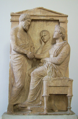 Funerary stele of Thrasea and Euandria